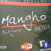 Photo taken at Mangho Burguer Salad by Joao R. on 1/10/2012