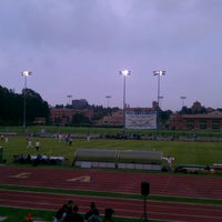 Photo taken at UCLA Drake Track & Field Stadium by pixelxica x. on 9/17/2011