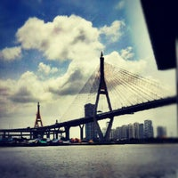 Photo taken at Chao Phraya River by Rayla L. on 7/7/2012
