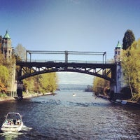 Photo taken at Montlake Bridge by James K. on 4/14/2012