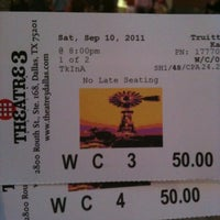 Photo taken at Theatre 3 by Elaine L. on 9/11/2011