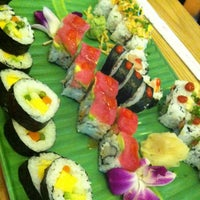 Photo taken at Full Moon Sushi & Bistro by Cameron M. on 10/31/2012