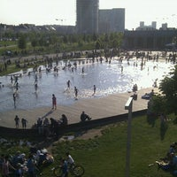 Photo taken at Park Spoor Noord by Hannes D. on 6/8/2013