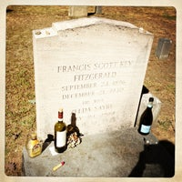 Photo taken at F. Scott Fitzgerald's Grave by Katalin E. on 9/17/2013