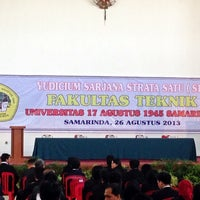 Photo taken at Universitas 17 Agustus 1945 (UNTAG) Samarinda by Fachrizal D. on 8/26/2013