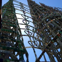 Photo taken at Watts Towers of Simon Rodia State Historic Park by Kym :. on 4/19/2013