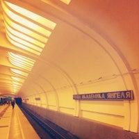 Photo taken at metro Ulitsa Akademika Yangelya by Шамиль У. on 4/8/2014