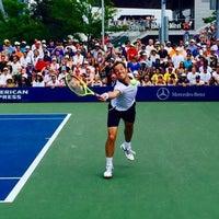 Photo taken at Court 5 - USTA Billie Jean King National Tennis Center by Fm D. on 9/1/2015