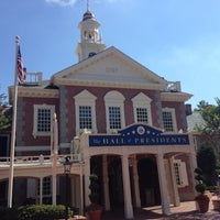 Photo taken at The Hall Of Presidents by Tim A. on 5/9/2013