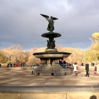 Photo taken at Bethesda Fountain by Rebecca B. on 11/24/2012