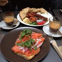 Photo taken at QVB Bar Cafe by Elle W. on 7/15/2014