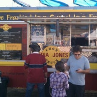 Photo taken at India Jones Chow Truck by Stephanie M. on 12/8/2012