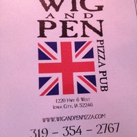 Photo taken at The Wig & Pen Pizza Pub by Chris R. on 10/6/2012
