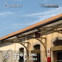 Photo taken at Gare SNCF de Lunel by Dimitri M. on 7/13/2013