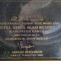 Photo taken at Taman Air Sabda Alam Hotel & Resort by Erlangga Airfan on 5/16/2015