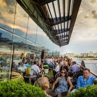 Photo taken at OXO Tower Brasserie by Andrea Z. on 8/7/2014