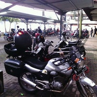 Photo taken at Parking Area of Campus G of Gunadarma University by IGo G. on 3/20/2013