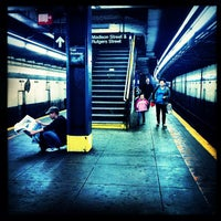 Photo taken at MTA Subway - East Broadway (F) by Michael M. on 9/26/2012