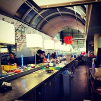 Photo taken at YO! Sushi by Omid A. on 3/13/2013