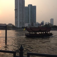 Photo taken at Tak Sin Pier by Atita W. on 1/29/2015