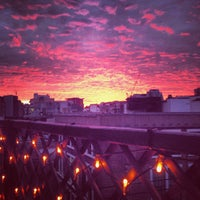Photo taken at Rooftop @ Queen Of Hoxton by nik p. on 5/5/2013