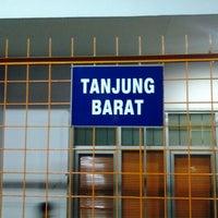 Photo taken at Stasiun Tanjung Barat by Lora A. on 12/28/2012