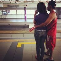 Photo taken at LRT 2 (Araneta Center-Cubao Station) by Ujin A. on 12/31/2012