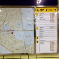 Photo taken at Songjeong Stn. by Jong Suu L. on 3/12/2014