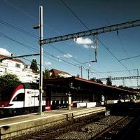 Photo taken at Bahnhof Zürich Tiefenbrunnen by FM G. on 9/9/2013