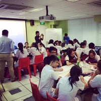 Photo taken at Yuying Secondary School by Pedro A. on 9/18/2014