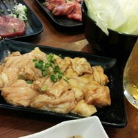 Photo taken at 焼肉の田口 恩名店 by Keiko N. on 9/12/2015
