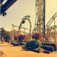 Photo taken at Bobbejaanland by Jon D. on 5/20/2014