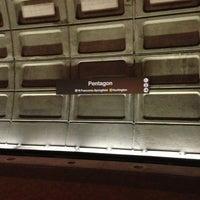 Photo taken at Pentagon Metro Station by Bob T. on 8/8/2013