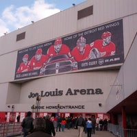 Photo taken at Joe Louis Arena by Rachel D. on 4/1/2013