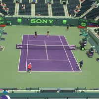 Photo taken at Grandstand Court - Sony Ericsson Open by Jay B. on 3/29/2014