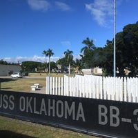 Photo taken at USS Oklahoma Memorial by Dominic F. on 2/20/2016