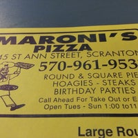 Photo taken at Maroni's Pizza House by Frank J. on 2/1/2014