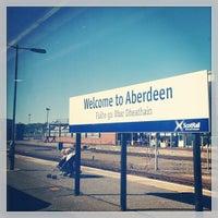 Photo taken at Aberdeen Railway Station (ABD) by Vita P. on 5/26/2013