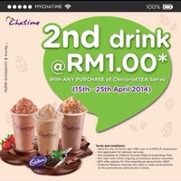Photo taken at Chatime by Alex T. on 4/15/2014