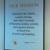 Photo taken at Saint Mary's University of Minnesota by Stacia V. on 7/8/2013