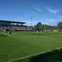 Photo taken at U-M Soccer Complex by Anatoliy S. on 10/2/2016