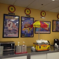 Photo taken at Vienna Beef Factory Store & Cafe by Matt K. on 1/12/2013
