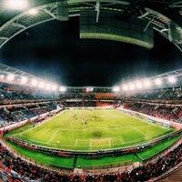 Photo taken at Стадион «Локомотив» by pashanio on 10/26/2013