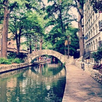 Photo taken at The San Antonio River Walk by Lindsey M. on 7/8/2013