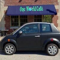 Photo taken at One World Café by Lanny on 9/30/2012