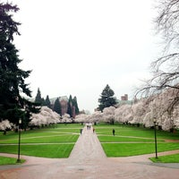 Photo taken at UW Quad by Kate K. on 4/6/2013