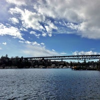 Photo taken at Ship Canal Bridge by Kate K. on 2/26/2013