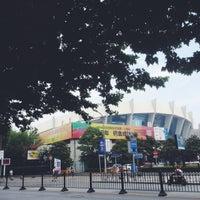 Photo taken at Shanghai Indoor Stadium Metro Stn. by Eddy L. on 6/18/2014