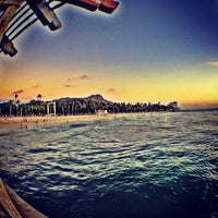 Photo taken at Waikiki Beach Walls by RadicalRP on 12/27/2012