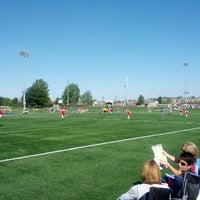 Photo taken at Overland Park Soccer Complex by Bret W. on 9/29/2012